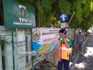 Pelanggar Pelaksanaan Pembatasan Sosial Berskala Besar di Pondok Ranggon, Jakarta Timur