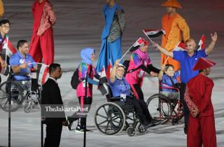 -Defile Atlet Syria dalam Upacara Pembukaan Asian Para Games 2018