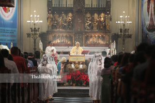 Christmas eve in Cathedral Jakarta