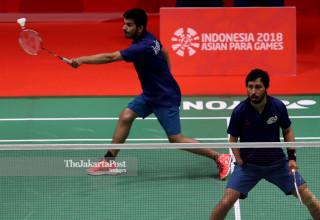 Badminton Ganda Putra India Asian Paragames 2018
