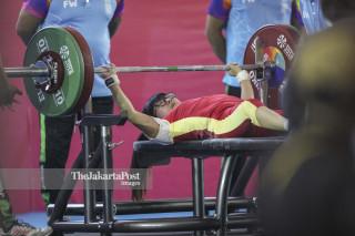Final Angkat Berat Asian Para Games 2018 - China Zhe Cui