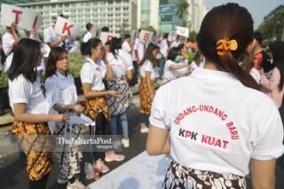 Aksi Srikandi Milenial dukung pelantikan pimpinan KPK baru