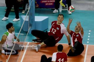 -Voli duduk putra Khazakhstan vs Iraq