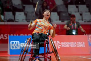 Para badminton putri Final Asian Para Games 2018_Cina