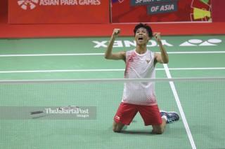 Semi Final  Badminton Tunggal Putra SU 5