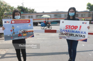 Kampanye Keselamatan di Perlintasan Kereta