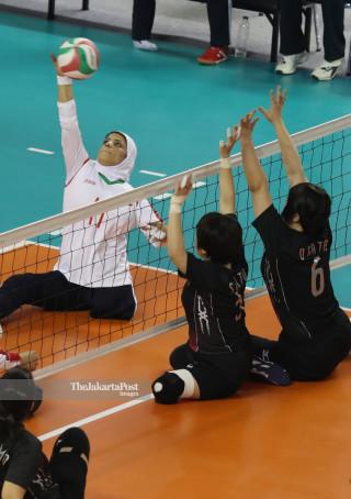 -Volley Duduk Putri Asian Para Games 2018