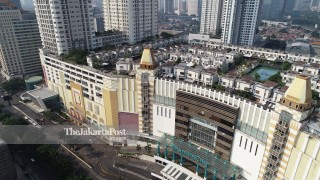 Aerial of Thamrin Residence on Thamrin City Mall.