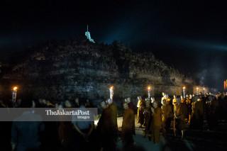 Vesak day in Borobudur