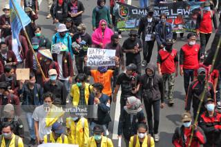 unjuk rasa UU Cipta Lapangan Kerja