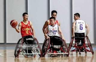 Persiapan Tim basket Kursi Roda