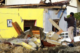 Rumah warga terendam lumpur di Petobo Palu Sulawesi Tengah