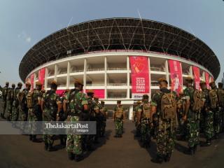 Persiapan keamanan Asian Paragames 2018