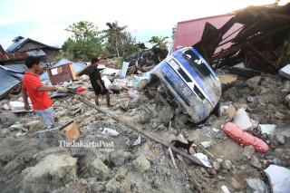 Kawasan pemukiman yang teredam lumpur di Petobo Palu Sulawesi Tengah