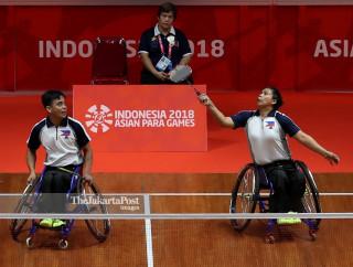 -Babak Pertama Sektor Ganda Campuran Bulutangkis Asian Para Games 2018 Jepang vs Philipina