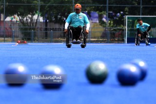 Para games Athletes training