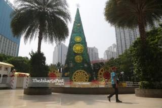Hiasan pohon natal 2018 Central Park Mall Jakarta
