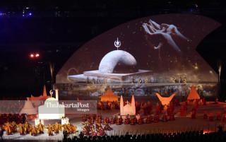 -Replika Rumah Ibadah dalam Acara Pembukaan Asian Para Games 2018