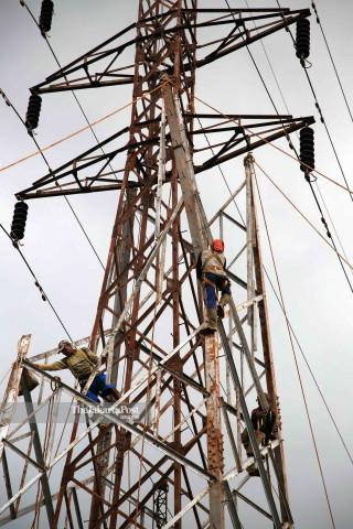 High voltage electricity in Gunung Putri, Bogor - West Java