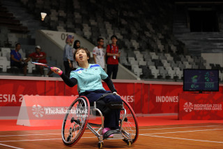 Badminton Quarter Women Asian Paragames 2018