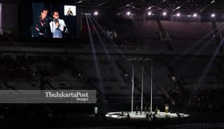 Penampilan akapela Jamaica Cafe di pembukaan Asian Para Games 2018